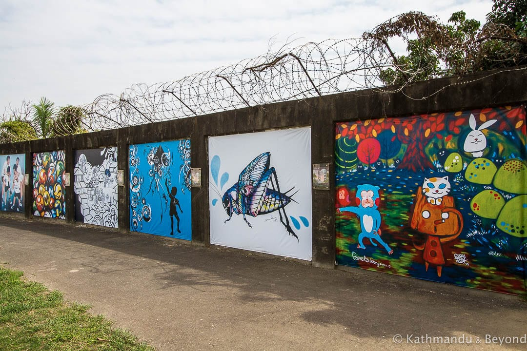 Street Art at the Former Japanese Navy Fongshan Communication Centre in Kaohsiung, Taiwan