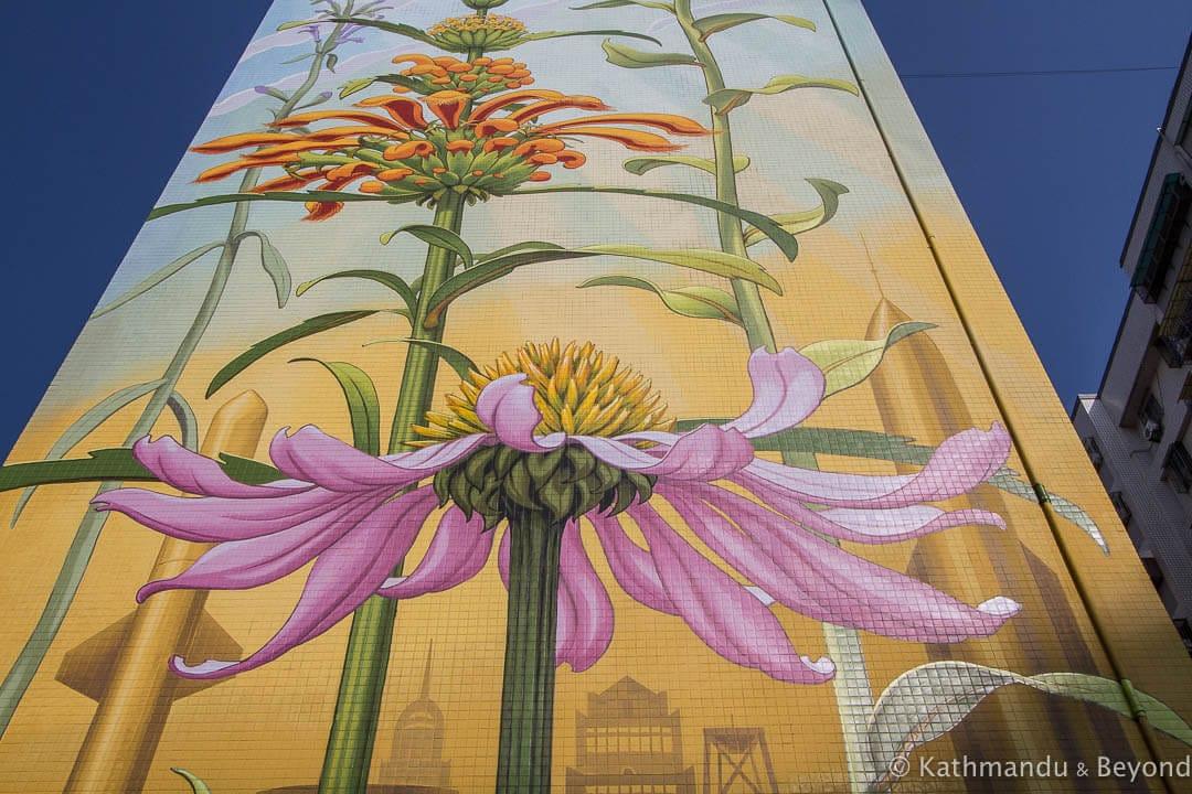 Street Art by Mona Caron in Kaohsiung, Taiwan