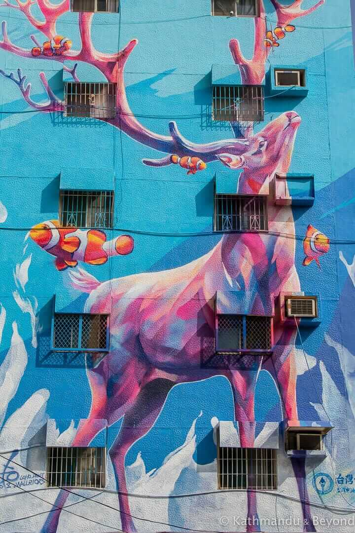 Lingya District Street Art in Kaohsiung, Taiwan