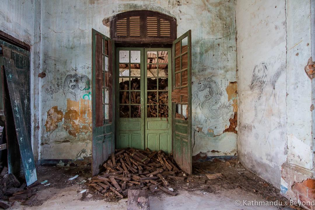 Faded Grandeur and Abandoned Buildings in Savannakhet, Laos