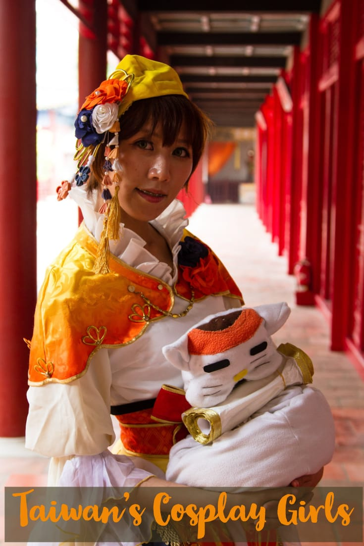 Cosplay girls in the Taiwanese city of Tainan - Koxinga Ancestral Shrine, Tainan in Taiwan