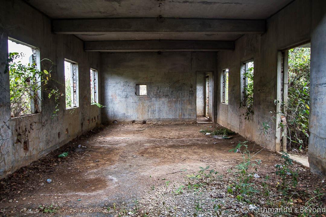 Former Khmer Rouge military housing Kampong Chhnang Cambodia-10