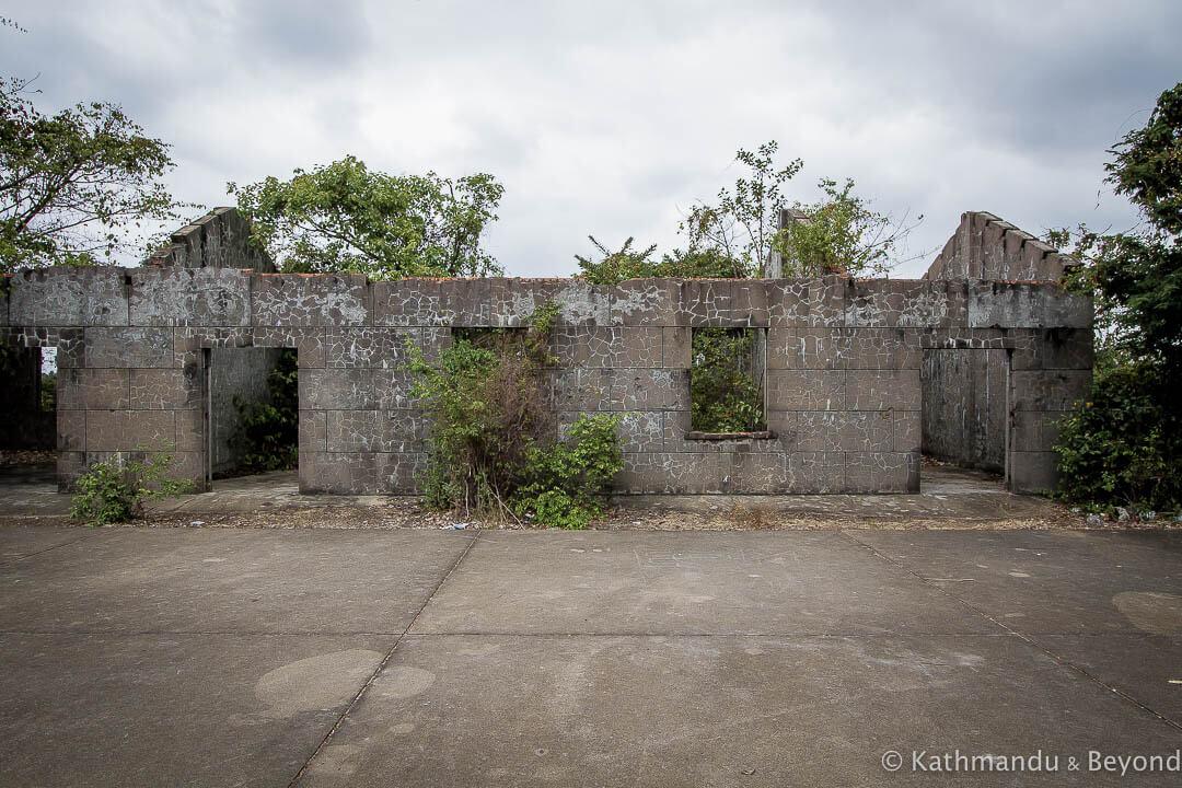 Former Khmer Rouge military housing Kampong Chhnang Cambodia-5