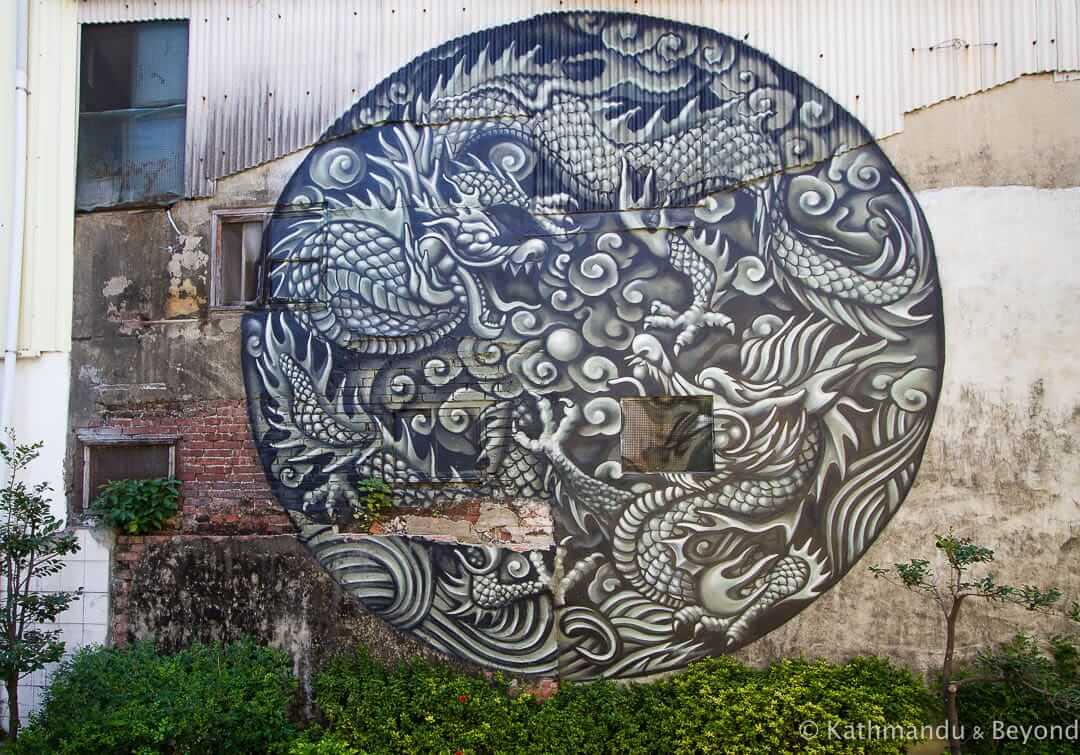 Street Art at the Blueprint Cultural and Creative Park Tainan Taiwan