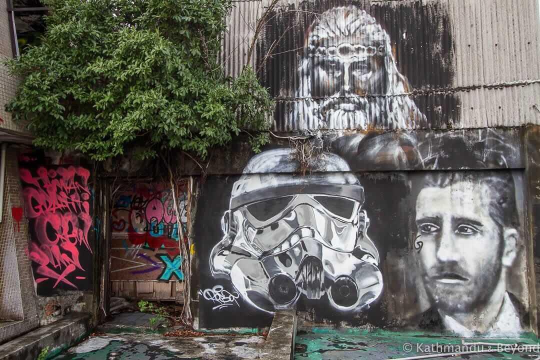 Street Art at Qianyue Building Taichung Taiwan