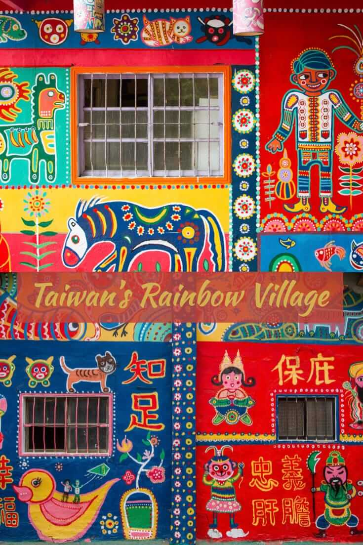 Street Art in Taichung City, Taiwan - Rainbow Village #streetart #travel #Taiwan