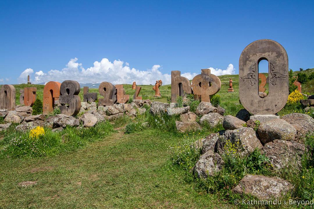 Armenian Alphabet Monument Byurakan Armenia