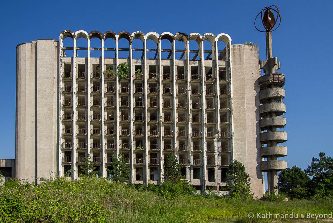 Escher Sports Complex (Central Olympic Base of the USSR) in Escher, Abkhazia | Brutalist | Soviet architecture | former USSR