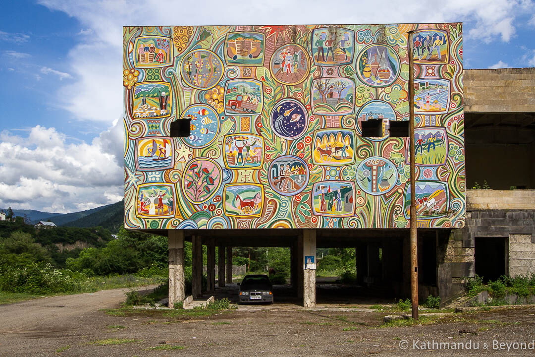 Sanatorium Mountain Valley (Sanatorium Borjomi) in Borjomi, Georgia | Soviet artwork | former USSR
