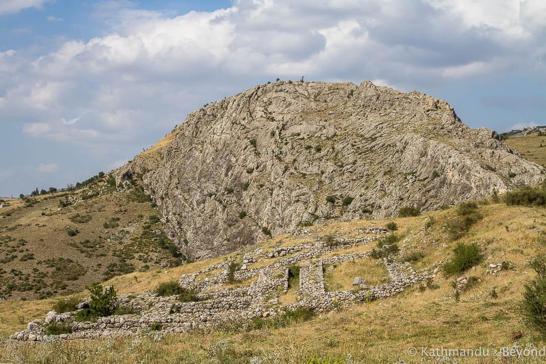 House on the slope Hattusa Turkey_