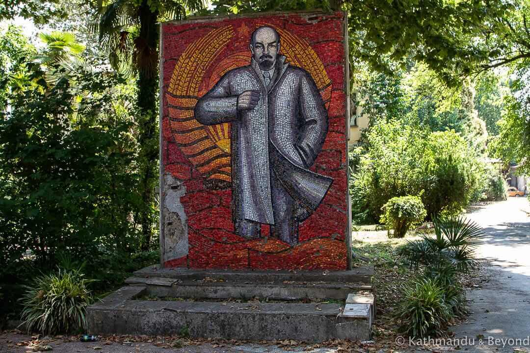 Mosaic of V.I. Lenin Strategic Missile Forces and MVO Military Sanatorium (Sanatorium MVO Sukhum) Sukhumi Abkhazia-2