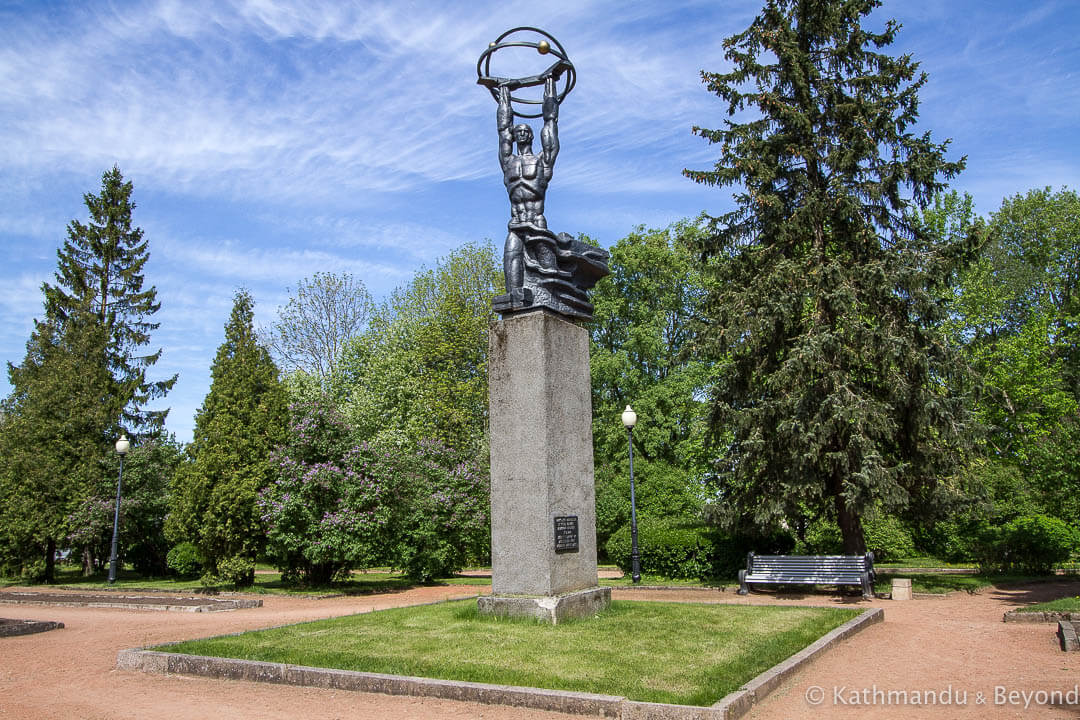 Monument to Atomic Power Sillamae Estonia-2