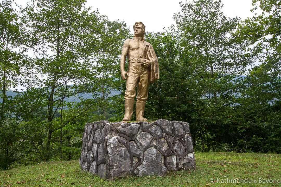 Monument to the Miner in Tkvarcheli, Abkhazia | Soviet monument | former USSR