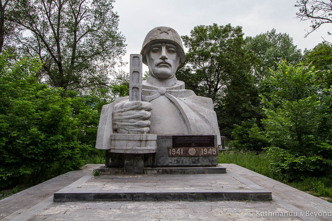 Monument to the Great Patriotic War Chemical Factory Workers' Park Vanadzor Armenia
