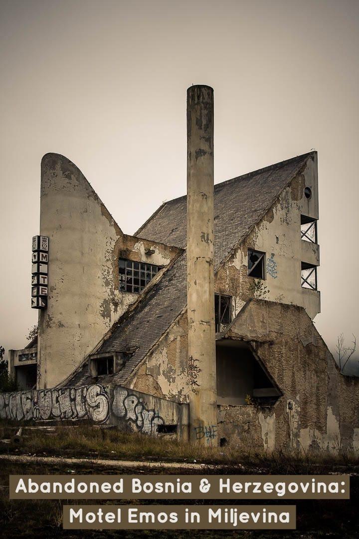 Abandoned Bosnia & Herzegovina - Motel Emos in Miljevina #Balkans #travel #abandonedplaces