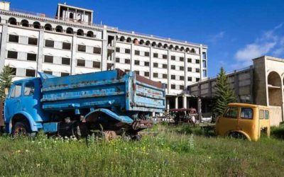 Abandoned Armenia – Unfinished hotel near Lake Sevan