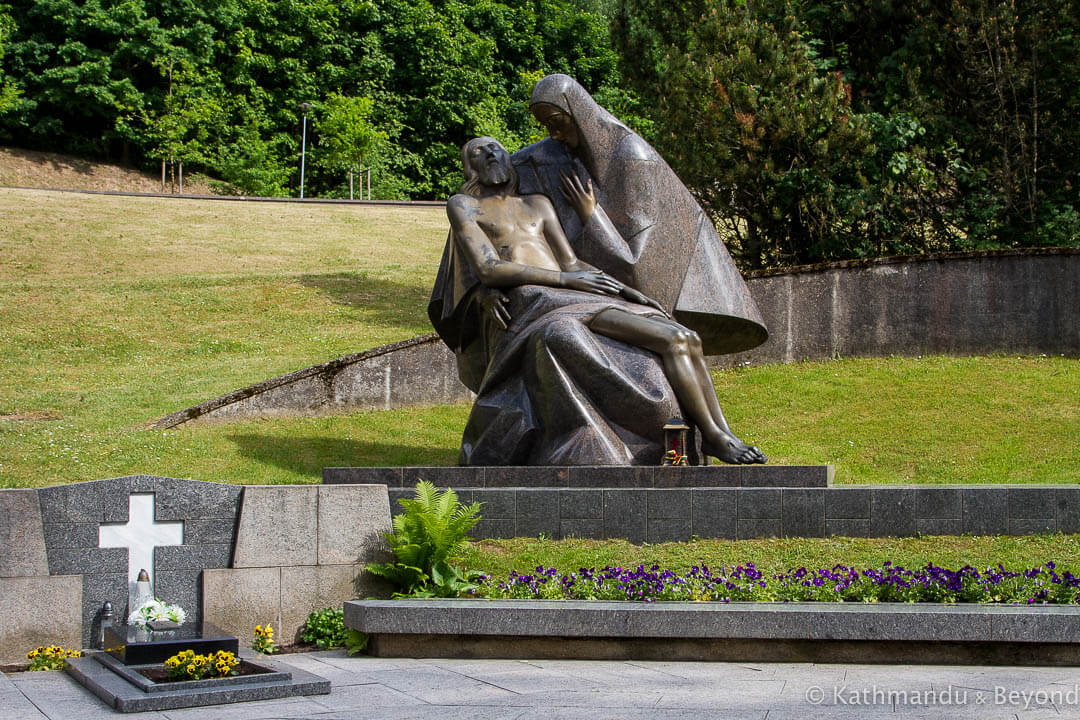 Pietà, part of the Monument to the victims of January 13 1991 Antakalnis Cemetery Vilnius Lithuania-16