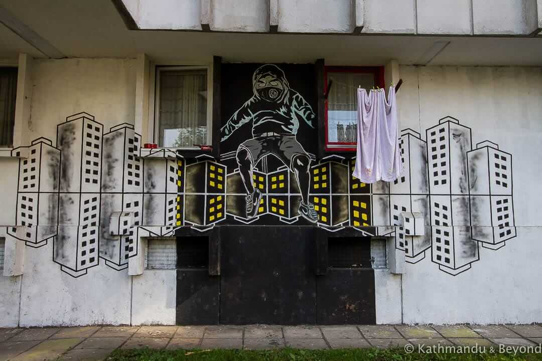 Street Art in Borik, Banja Luka, Bosnia and Herzegovina