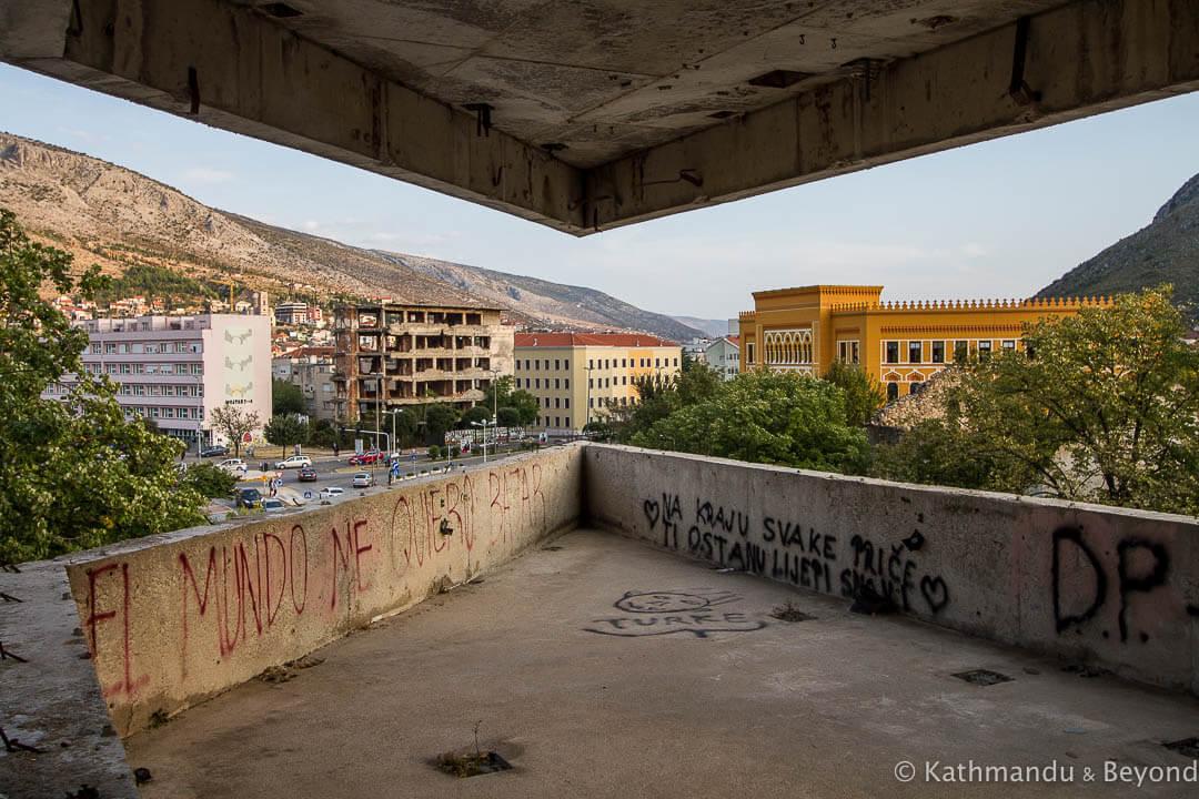 Former Ljubljanska Bank (Sniper Tower) Mostar Bosnia and Herzegovina-18