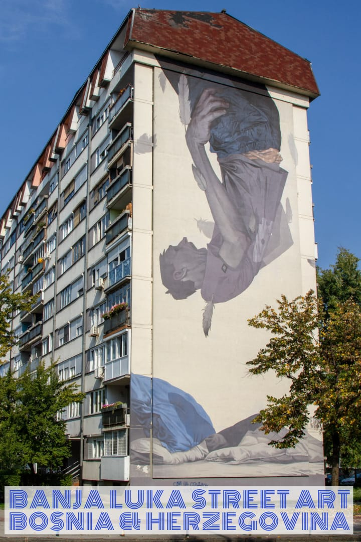 Street Art in Banja Luka, Bosnia & Herzegovina #streetart #travel #balkans #bosnia #murals #europe