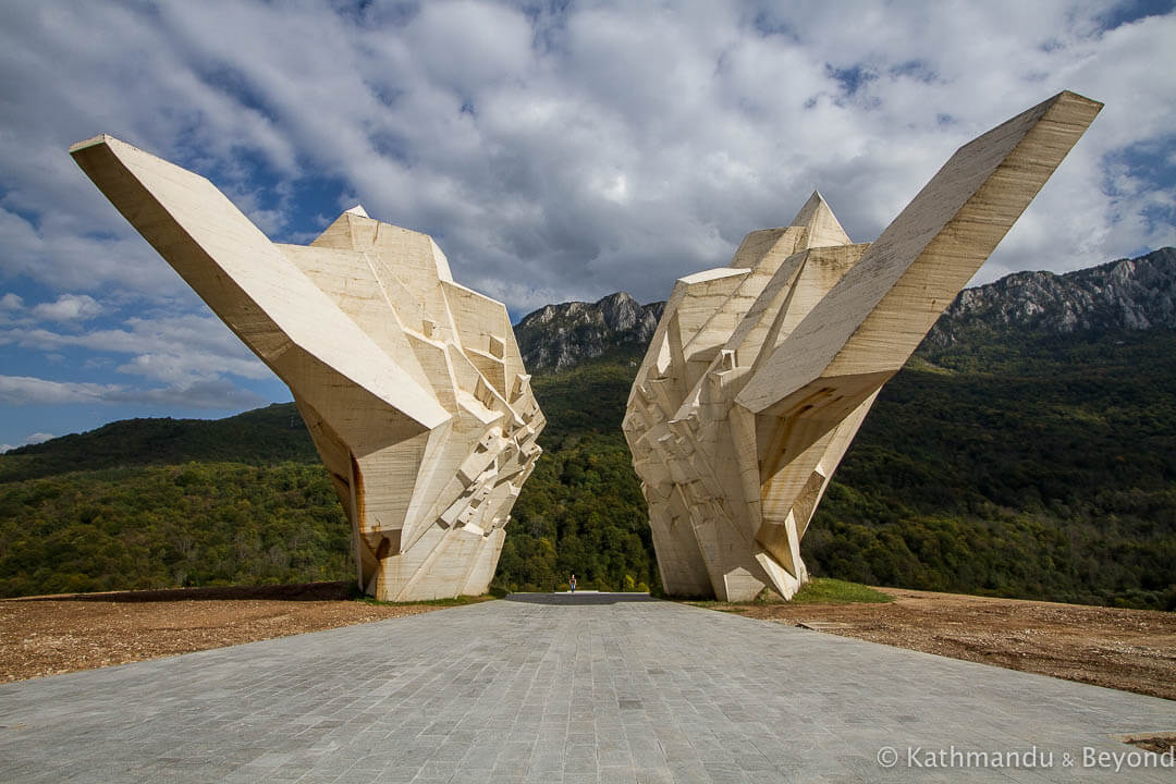 The Battle of Sutjeska Memorial Monument Complex in the Valley of Heroes Tjentiste Sutjeska National Park Bosnia and Herzegovina-3