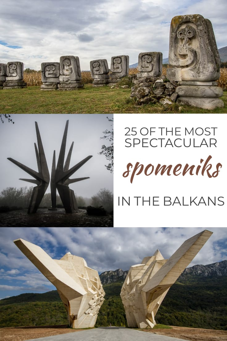 25 of the most spectacular #spomeniks in the Balkans - epic monuments of the former Yugoslavia #spomenik #balkans #monuments #memorial #travel #architecture #formeryugoslavia #tito #concrete #monument #brutalism