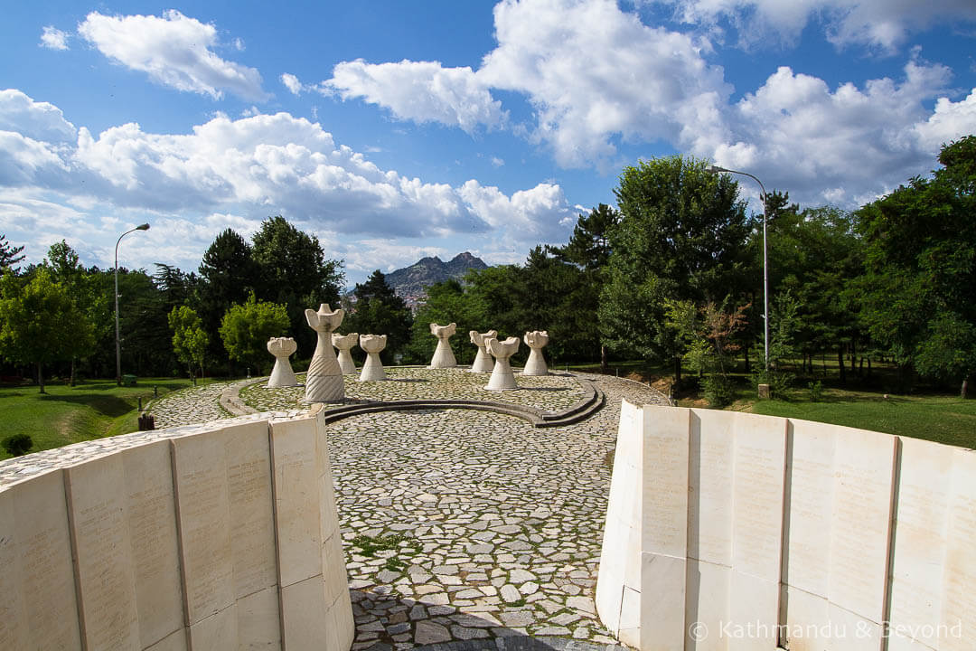 Burial Mound of the Unbeaten (Prilep Partisan Necropolis) Park of the Revolution Prilep Macedonia-11