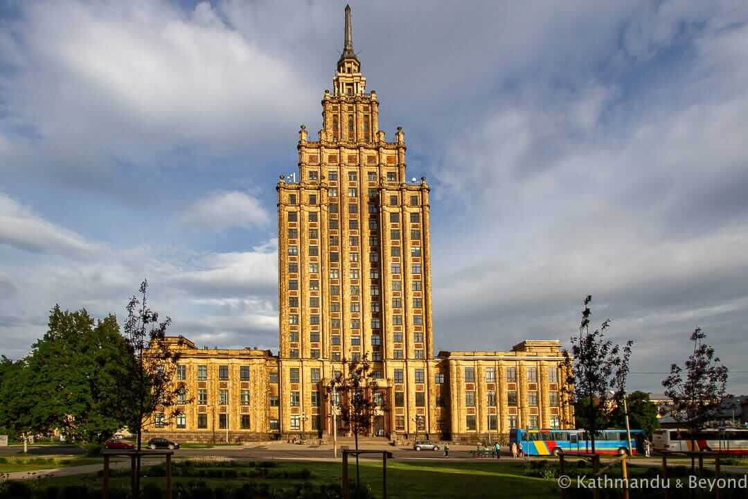 Latvian Academy of Sciences in Riga, Latvia | Stalinist Empire style architecture | former USSR