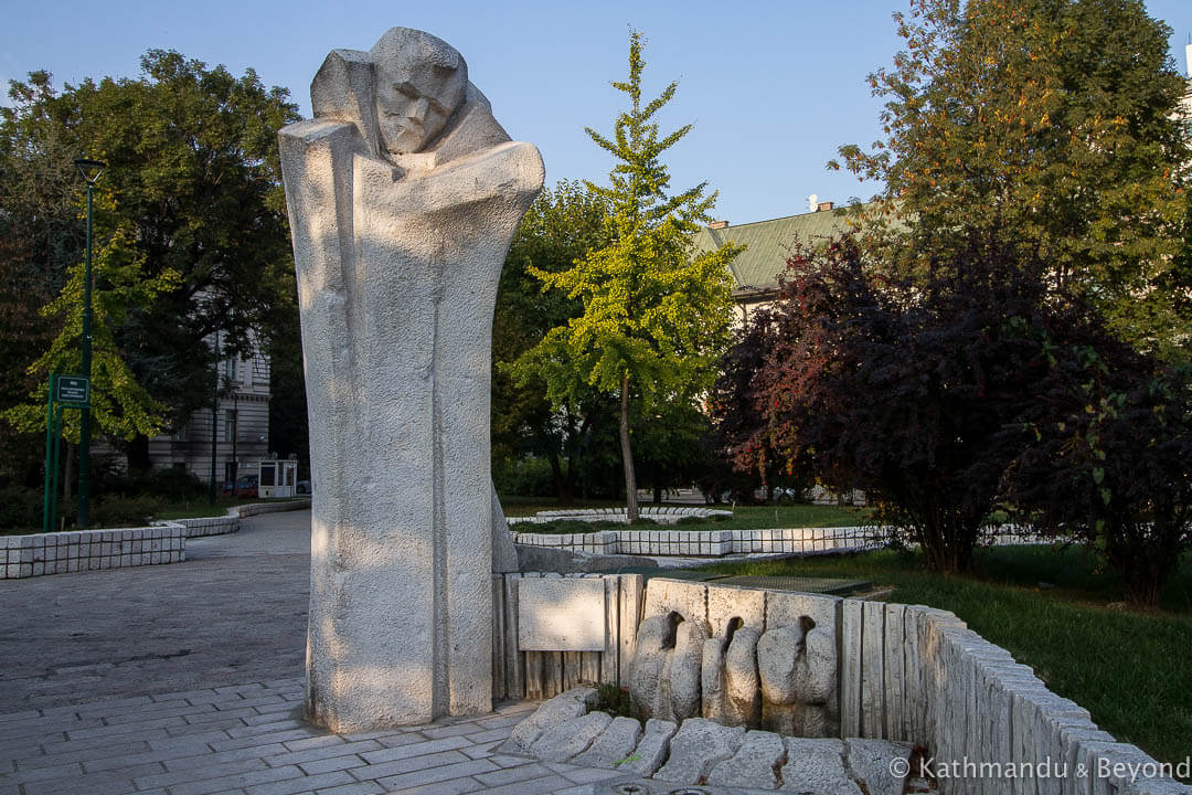 Monument to Djuro Djakovic Sarajevo Bosnia and Herzegovina