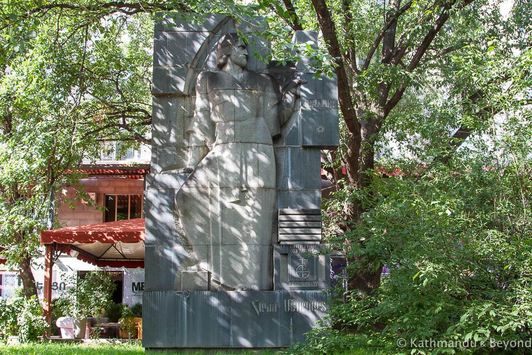 Monument to Hakop Meghapart Yerevan Armenia-2