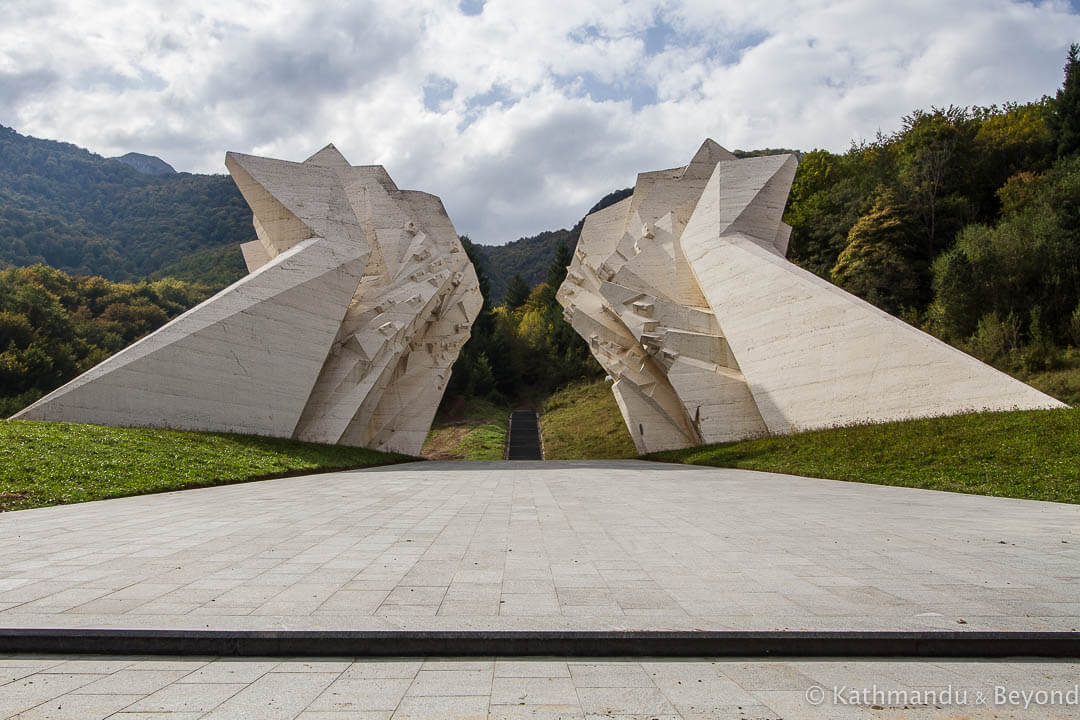 The Battle of Sutjeska Memorial Monument Complex in the Valley of Heroes Tjentiste Sutjeska National Park Bosnia and Herzegovina