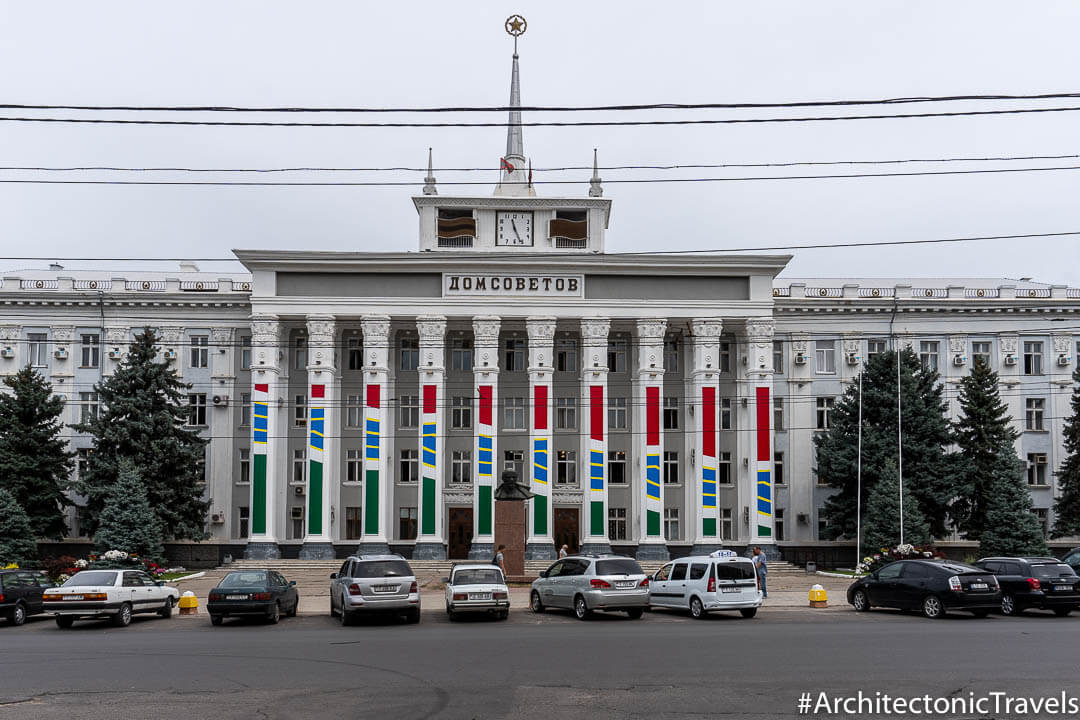 House of Soviets in Tiraspol, Transnistria | Stalinist Empire style | Soviet architecture | former USSR