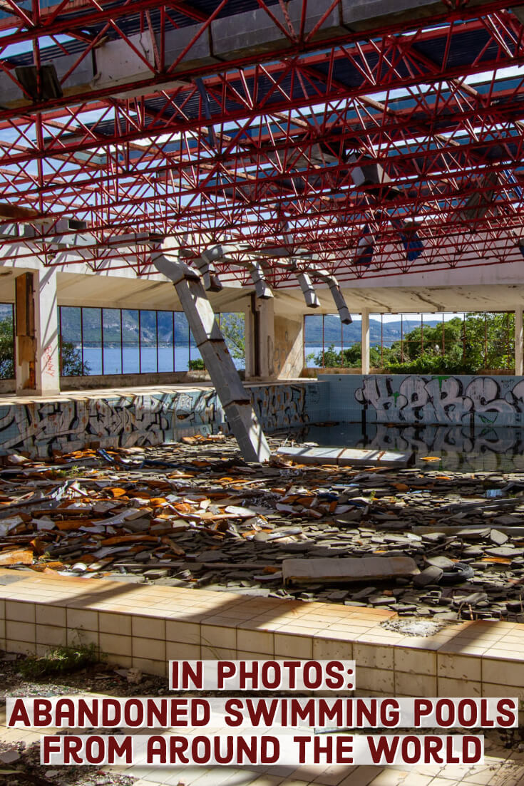 In photos - Abandoned swimming pools #abandonedplaces #urbex #urbanexploration #abandonedswimmingpools #foresaken #creepy