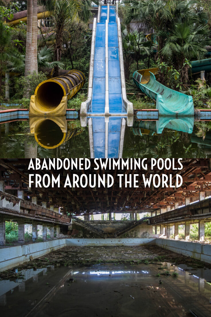 In photos - Abandoned swimming pools #abandonedplaces #urbex #urbanexploration #abandonedswimmingpools #foresaken #derelict