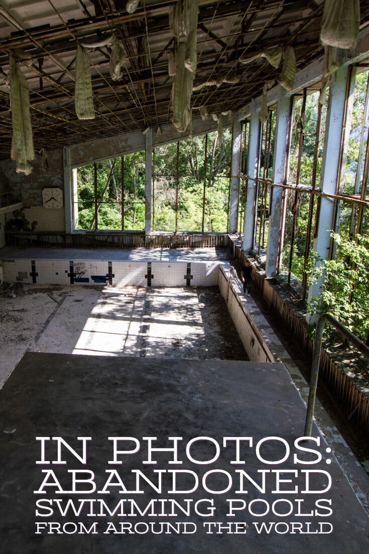 In photos - Abandoned swimming pools #abandonedplaces #urbex #urbanexploration #abandonedswimmingpools #foresaken