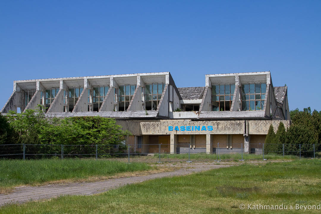 Former Linas (Lino) Swimming Pool (Vanagupė Complex) in Palanga, Lithuania | Brutalist | Soviet architecture | former USSR