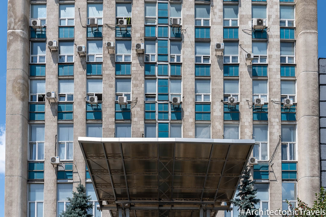 MoldTelecom (formerly Ministry of Communication) in Chisinau, Moldova | Brutalist | Soviet architecture | former USSR