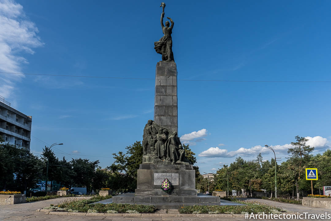 Monument to the Heroes of the Leninist Komsomol Chisinau Moldova