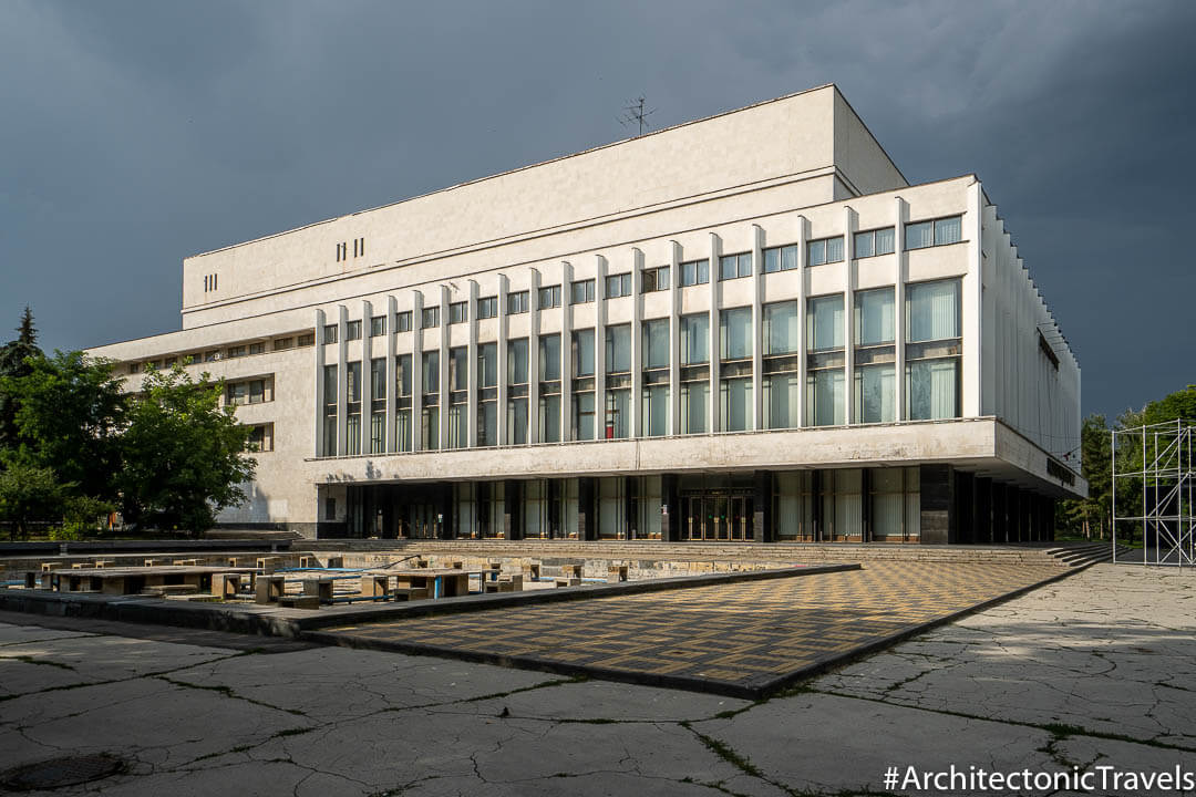 National Palace Nicolae Sulac Concert Hall in Chisinau, Moldova | Modernist | Soviet architecture | former USSR