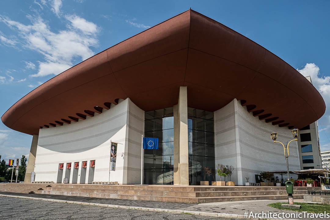 National Theatre Bucharest in Bucharest, Romania   Modernist   Socialist architecture   former Eastern Bloc