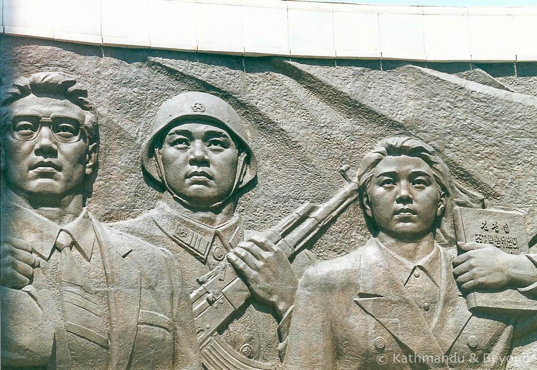 The Socialist Revolution Monument Pyongyang North Korea