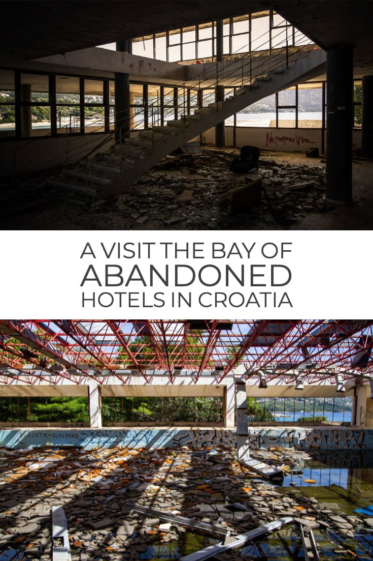 Visiting the Bay of Abandoned Hotels in Kupari #Croatia #urbex #travel #abandonedplaces #balkans
