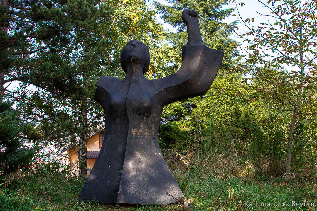 Monument to Women Fighters and Victims Vraca Memorial Park Sarajevo Bosnia and Herzegovina-10