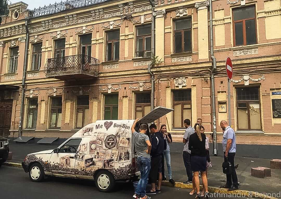 Coffee vans in Kiev Ukraine