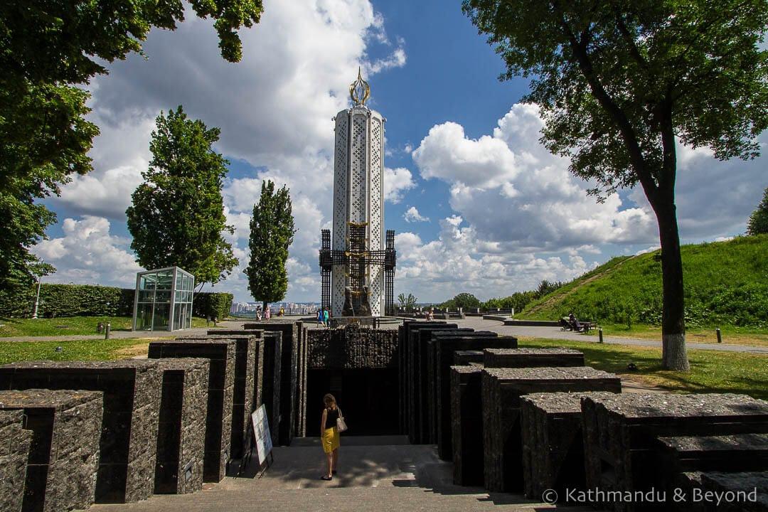 Holodomor Memorial Vichnoy Slavy Park Kiev Ukraine