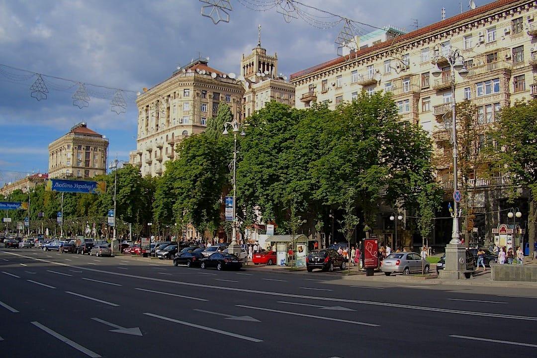 Khreshchatyk Street Kiev Ukraine
