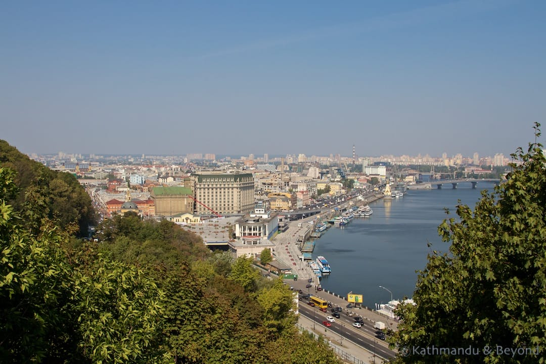View from Volodymyrska Hill (Saint Vladimir Hill) Kiev Ukraine