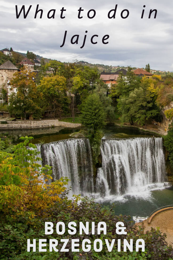 What to do in Jajce, Bosnia and Herzegovina #travel #travelguide #balkans #traveltips #waterfall