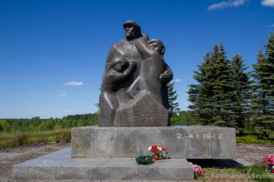 Monument to the victims of World War II (Audrini Massacre Victims Memorial) Audreni Latvia