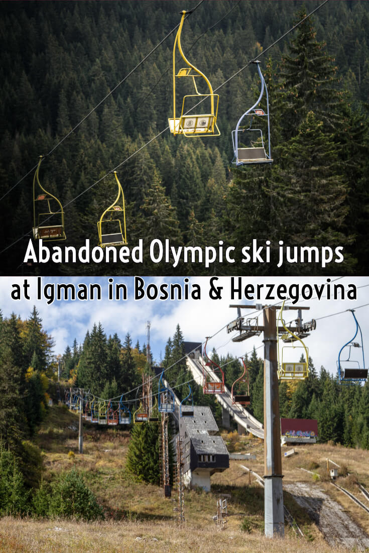 Abandoned Olympic ski jumps at Igman in Bosnia & Herzegovina #travel #abandonedplaces #SarajevoOlympics #lostplaces #balkans #europe